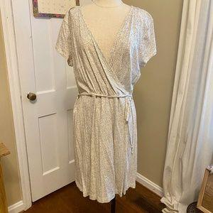 H&M Basics dotted wrap dress - US- L / EUR- XL